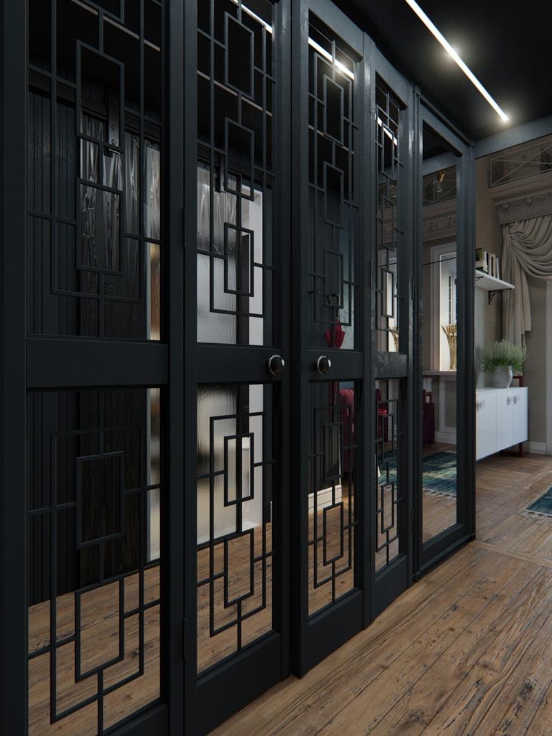 Проект квартиры-студии 25 м на тему Парижа.