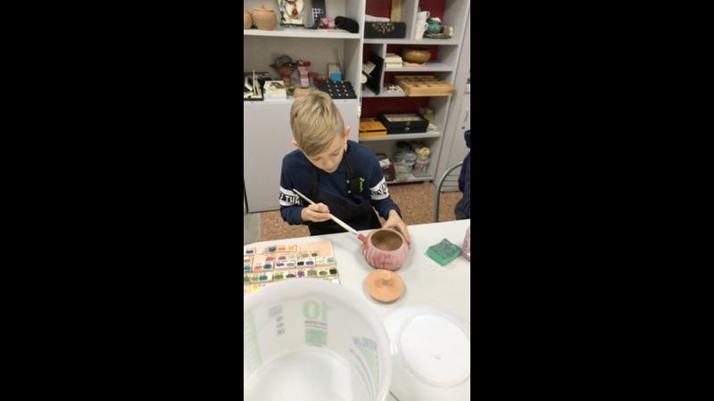 Группа по абонементам Покрытие глазурью обожженной керамики