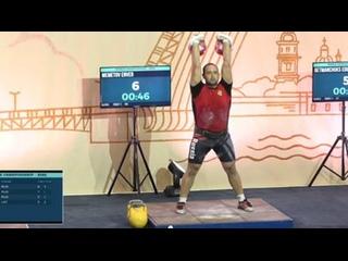 Энвер Меметов завоевал серебро на Чемпионате мира по гиревому спорту