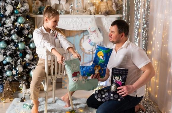 Рождественские носки цена в Омске