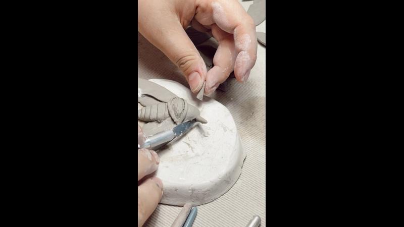 Процесс создания мотылька