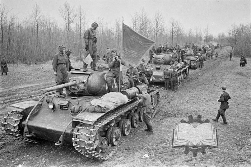 С октября 1942 года тяжелые танки стали сводить в гвардейские танковые полки (с 1944 года гвардейские тяжелые танковые полки прорыва). В данном случае КВ-1с из состава 6-го ГвТП.