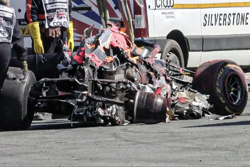 Max Verstappen's car after collide