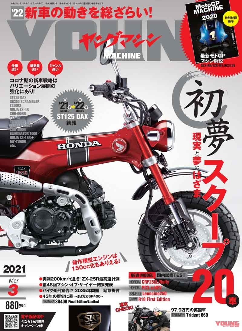 Минибайк Honda ST125 Dax ожидается в 2022 году