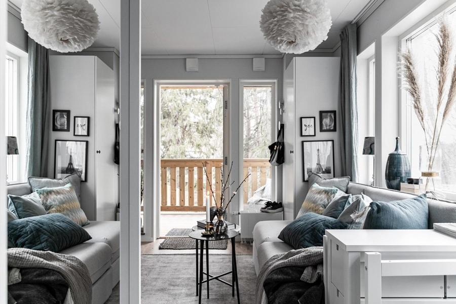 Маленькая скандинавская квартира-студия 20 кв.