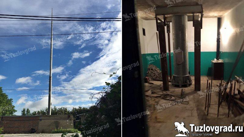 В Новочеркасске вышку сотовой связи установили прямо в гараже, видео