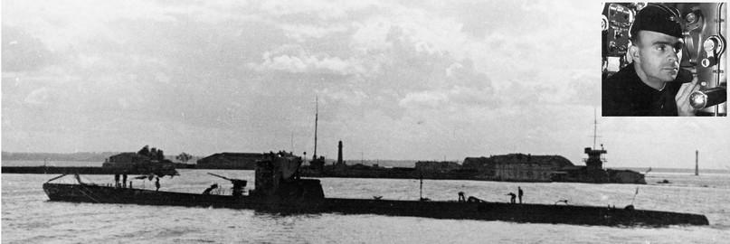 Подводная лодка «С-7» и ее командир С.П. Лисин, 1942 год.