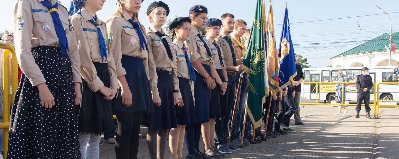 Юные разведчики г. Костромы приняли участие в праздновании обретения Феодоровской иконы Божией Матери