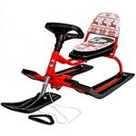 Снегокат 104 Comfort Хаски со складной спинкой красный