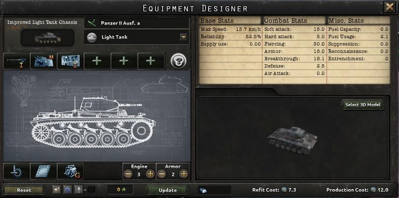 Дневник разработчиков Hearts of Iron IV — Конструктор танков, изображение №3