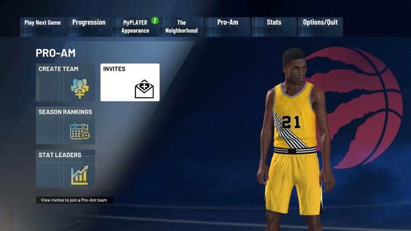 Как добавить друга в команду Pro-Am в NBA 2K21, изображение №4