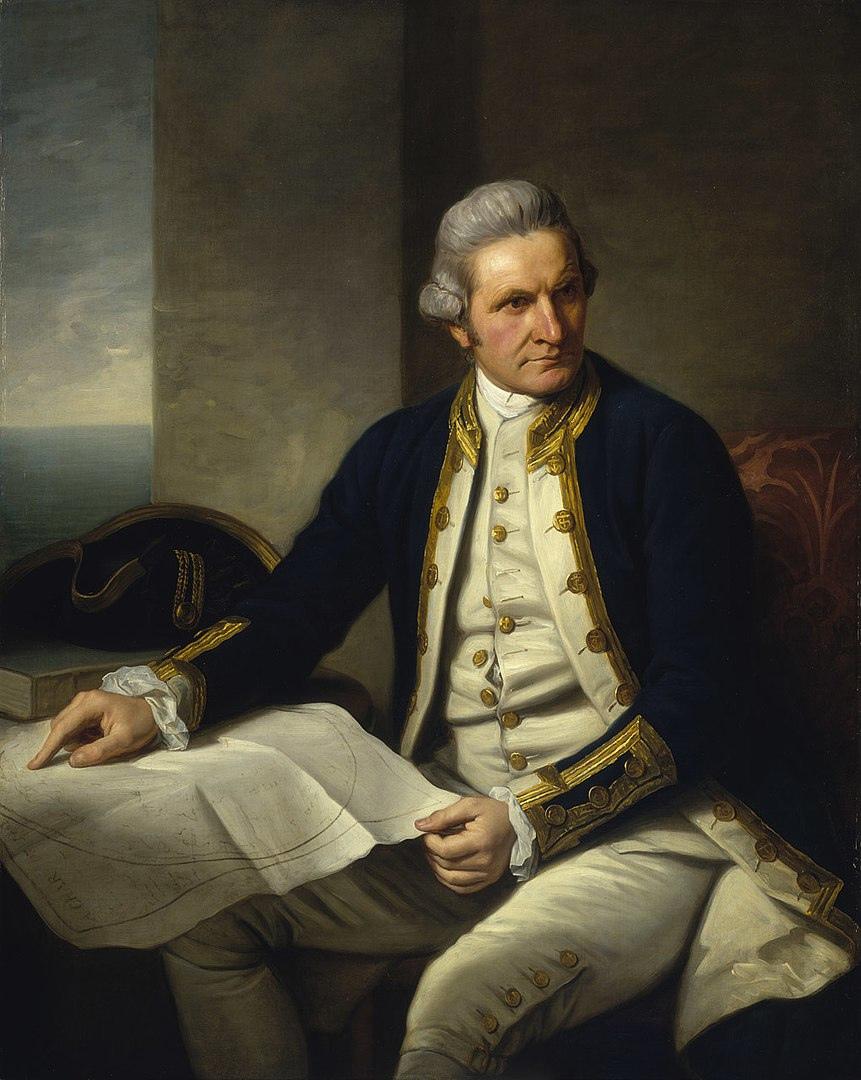 Джеймс Кук. Портрет Натаниэля Дэнс-Холланда, 1776