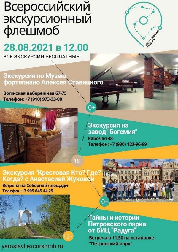 Для жителей и гостей Рыбинска проведут бесплатные экскурсии: афиша