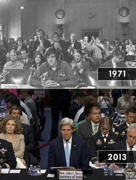 1971 год, Джон Керри, протестует против войны.