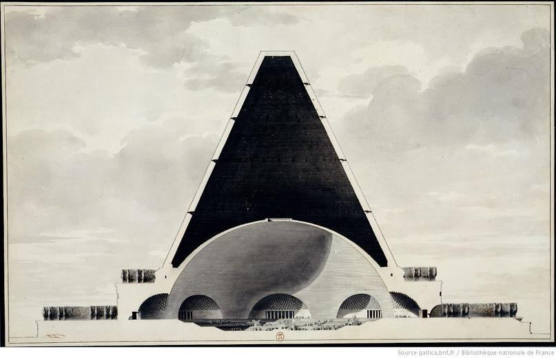 Загадка архитекторов Этьена Булле и Клода Леду идеи которому давали «сущности выходящие из тени», изображение №17