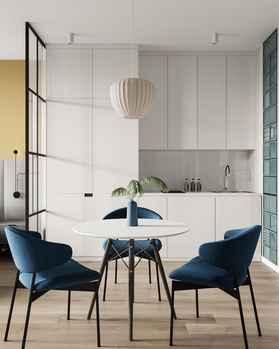 Проект апартаментов для отдыха 28 кв.