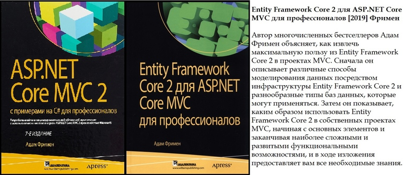 ASP.NET Core MVC 2 с примерами для профессионалов. 7-е издание [2019] Адам Фримен