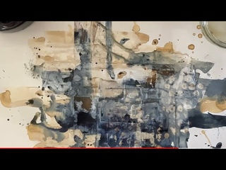 5 of the BEST surface texture ART TECHNIQUES [mix media & collage] acrylic/ink/bleach