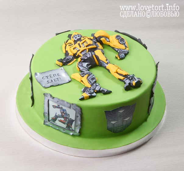 "Торт трансформер Бамболби ""Степе 5 лет!"" cake"