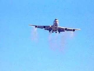 Boeing 747 Wing Tip Vortex Test