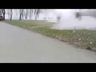 Из-за коммунальной аварии улицы  Челябинска превратились в Сайлент-Хилл.