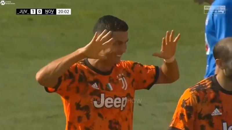 Cristiano Ronaldo Vs Novara First Game Under Andrea Pirlo 1080i 13 09 2020