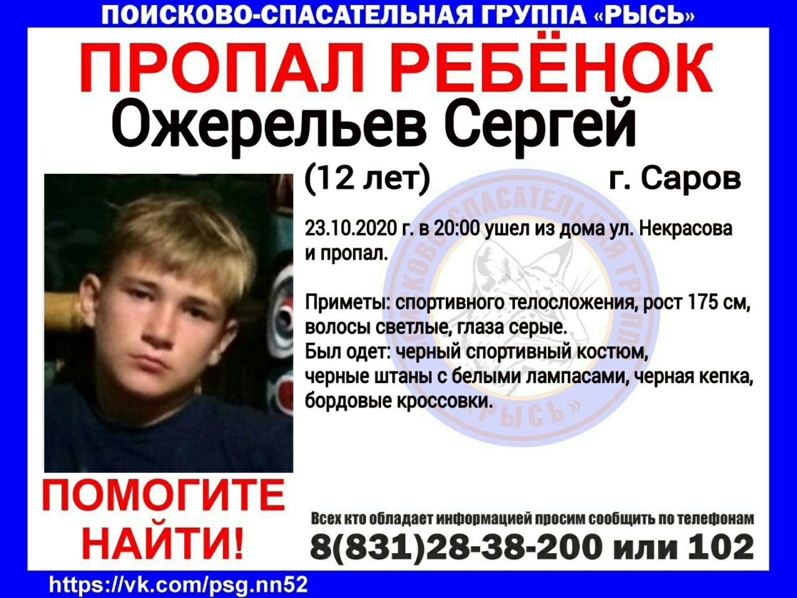Ожерельев Сергей, 12 лет, г. Саров