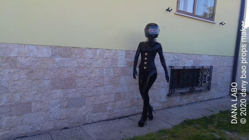 DANA LABO - Simon-o latex new womens collection, black catsuit, corset, gloves, boots