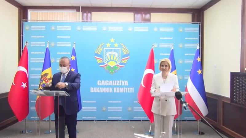 LIVE Пресс подход главы МИД Турции и башкана Гагаузии