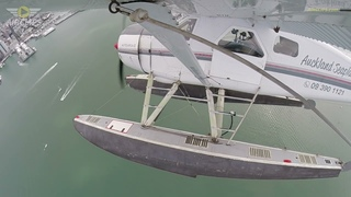AMAZING AUCKLAND VIEWS! DHC-2 Beaver Harbor Water Landing!  [AirClips]