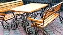 Кованый стол и скамейки для улицы, для сада, для дачи, для двора лавочки ковка