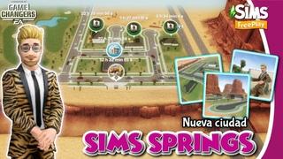 Sims Springs 🌴☀️ NUEVA CIUDAD - NUEVO BARRIO - NUEVOS SOLARES  😱  Sims FreePlay  🌸🐻 