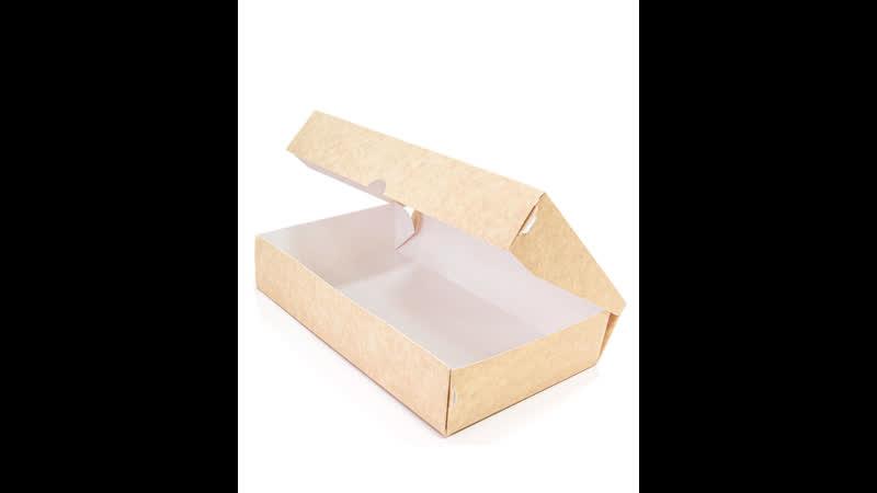 Как собрать бумажный контейнер Mealbox