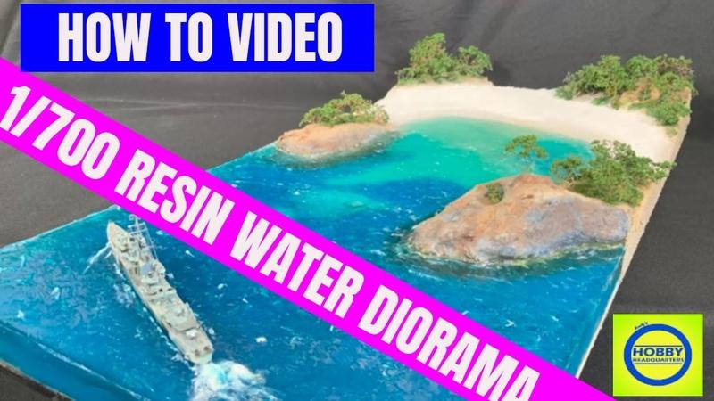 Epoxy Resin water diorama Tropical beach