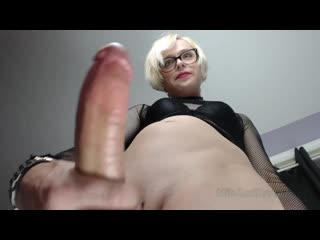 Mila Swift - Follow my POV BJ JOI [slave, blonde, transsexual, tranny, big dick]