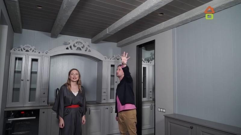 Декоративные балки Cosca в интерьере кухни гостиной 'Дачный ответ' от 06 05 2018 'Уютный север'