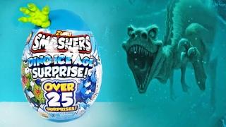 ГИГАНТСКОЕ ЯЙЦО ДИНОЗАВРА! 25 СЮРПРИЗОВ Smashers ZURU DINO ICE AGE! Jurassic World EGG toys unboxing