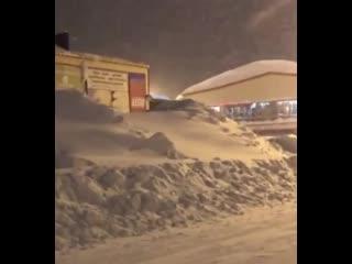 Вот такая зима в Норильске.