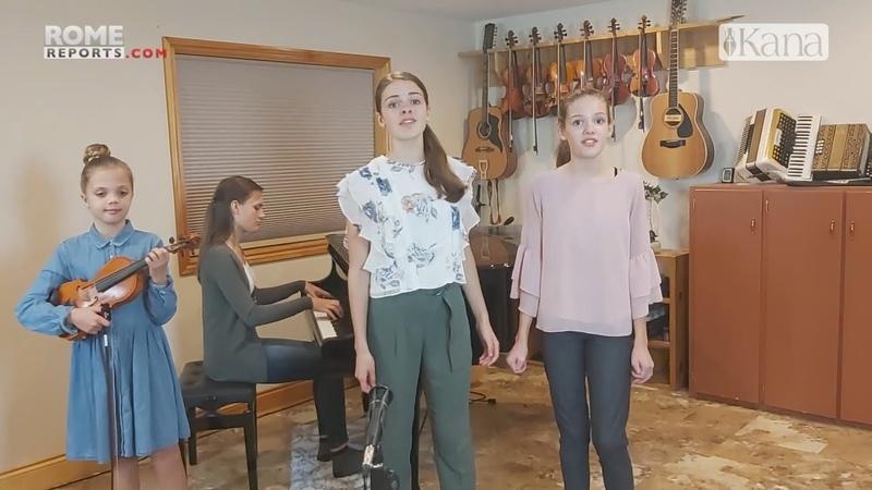 Семья с 7 детьми сформировала свою музыкальную группу