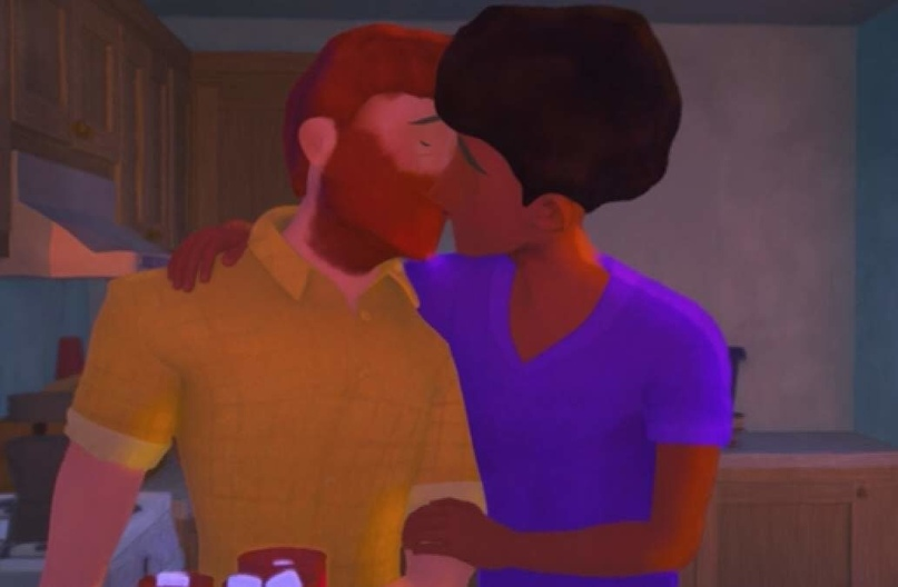 """Короткометражка """"Выход"""" представляет первого главного героя, который является открытым гомосексуалистом."""