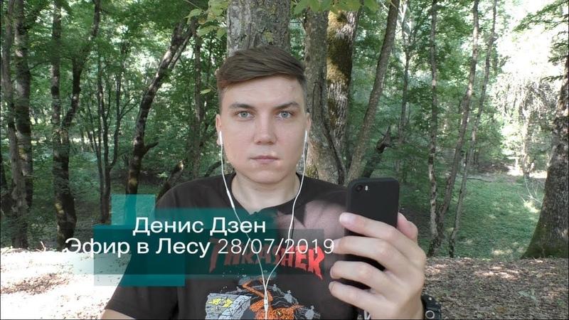 Денис Дзен, Эфир в лесу 28/07/2019( лучшие моменты).Сатсанг.