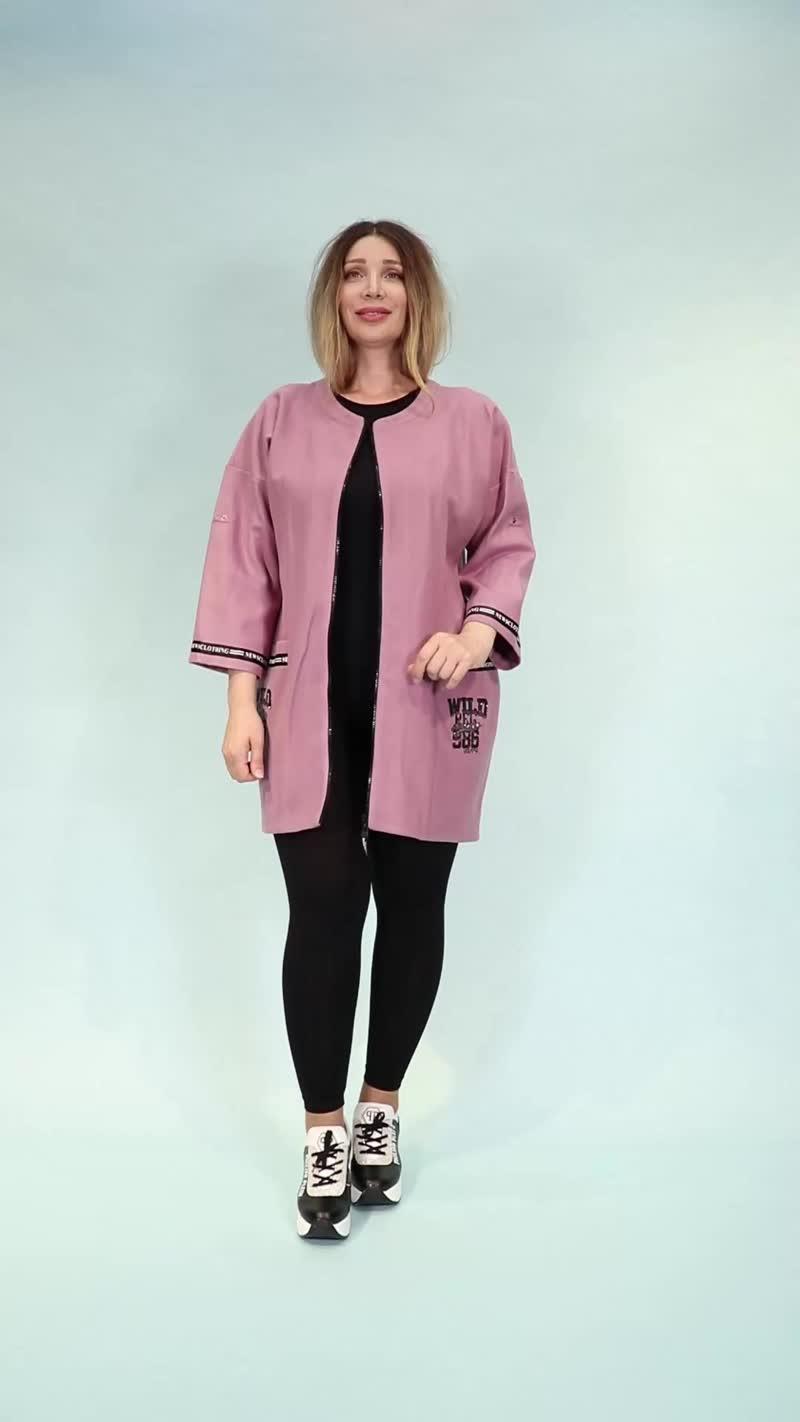 Стильный теплый короткий кардиган из Турции - интернет магазин женской одежды больших размеров Канада в Сочи, Адлер, Москва.