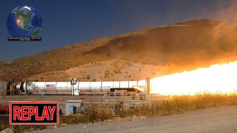 REPLAY Artemis SLS solid rocket booster test fire 2 Sep 2020