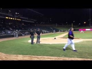 Winston-Salem Dash Manager Tommy Thompson in Epic Argument with Hone Plate Umpire in final 2014 home